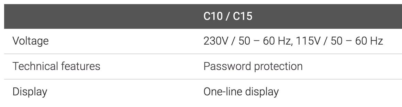 Controller C10-C15 Specs 2
